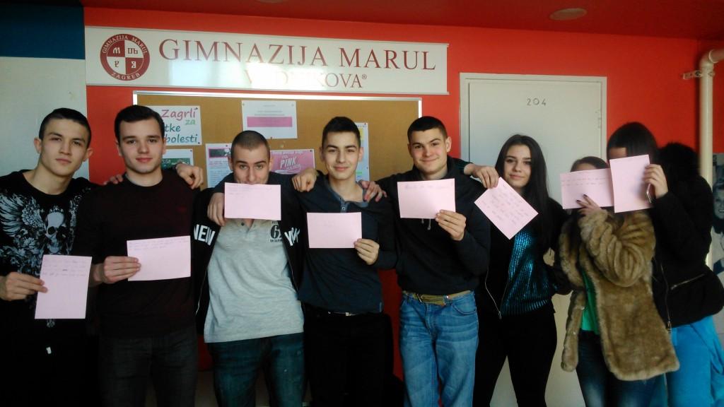 """Učenici gimnazije Marul obilježili """"Pink Shirt Day"""""""